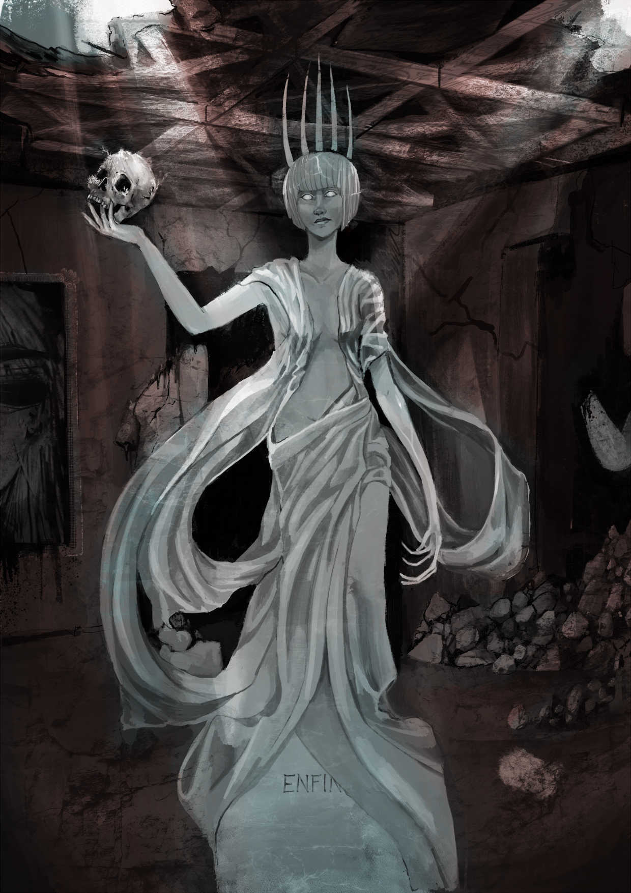 She of Ivory Blood, artist rendition